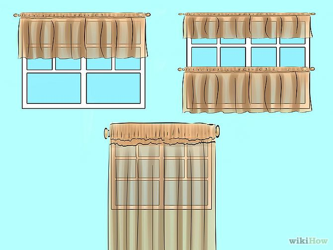 How to make curtains for the kitchen 11 steps (with pictures