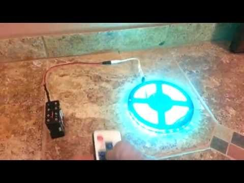 429b40a167fe Regular AA battery operated LED Strip light 5050 RGB with remote - YouTube