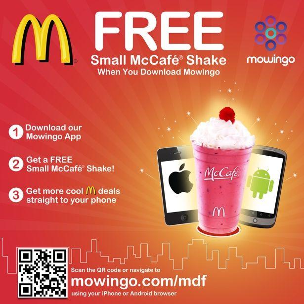 Mc-QR-Code: Customers of McDonald's can download the app in exchange