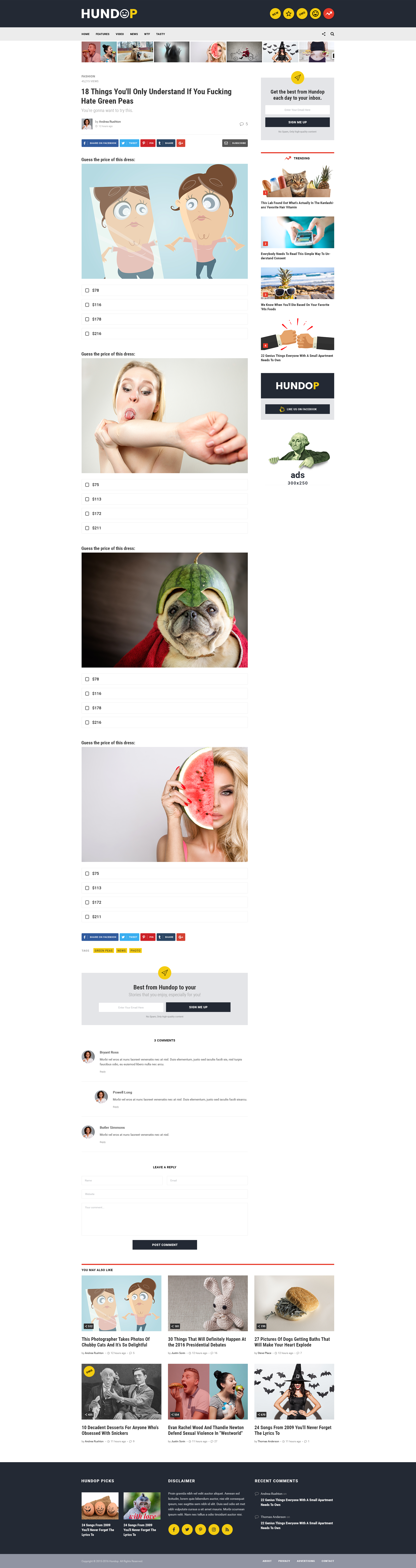 Hundop Viral & Buzz PSD Template Psd templates