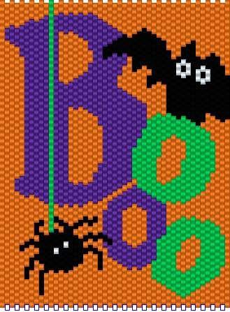 Halloween Boo | manualidades echas con chaquira | Pinterest | Hama ...