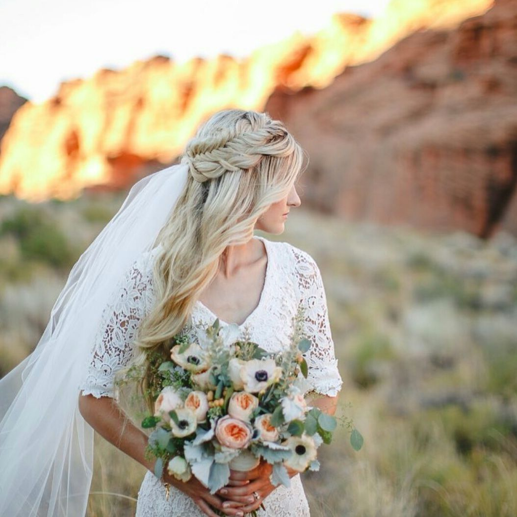 Modest Wedding Dress With Elbow Length Sleeves From Alta Moda
