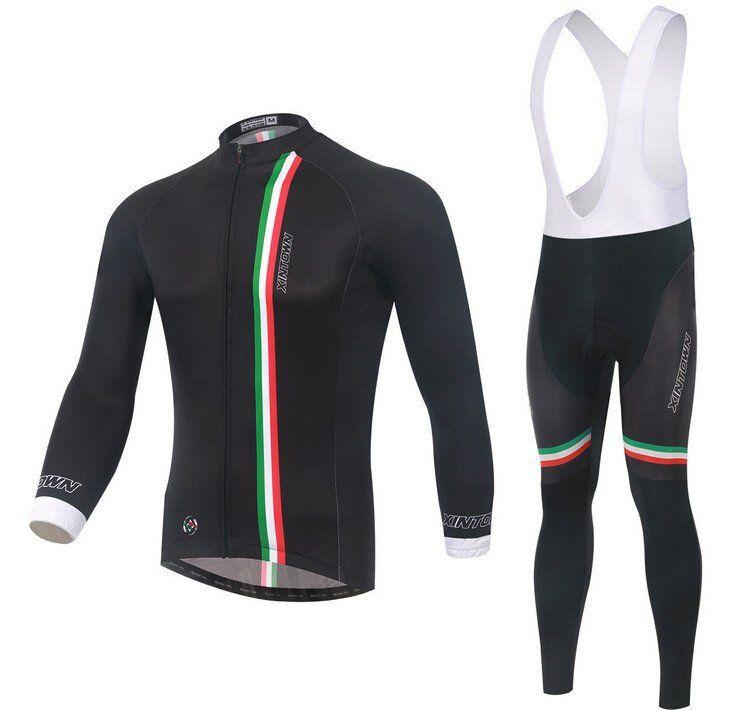 960b9ebb4 Italy Black Long Sleeve Cycling Jersey Set