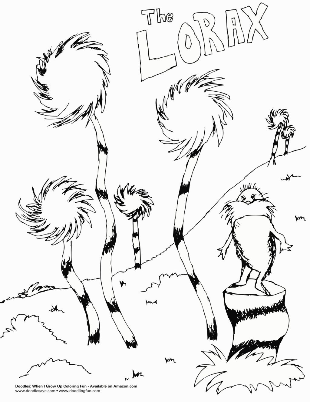 The Lorax Coloring Pages Dr Seuss Coloring Pages Lorax Trees Tree Coloring Page