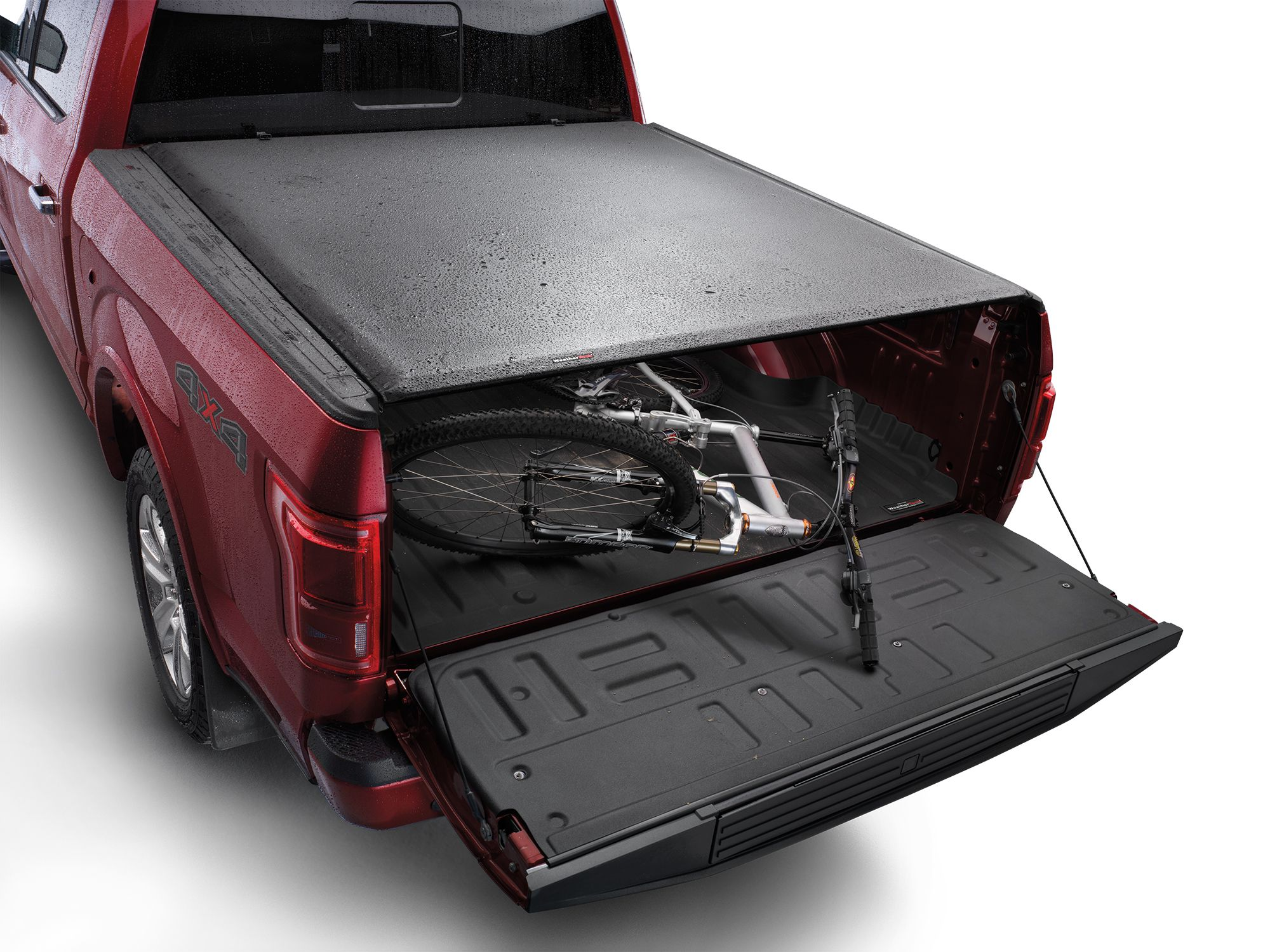 The custom fit roll up bed cover for pick up trucks is a tough water resistant commercial grade vinyl cover that protects your cargo from the toughest of