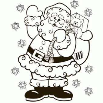 FREE Christmas Coloring Pages for Adults and Kids - Happiness is ... | 340x340