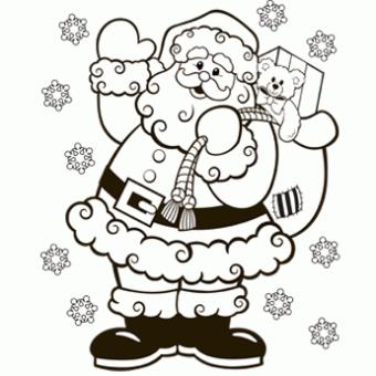 Santa Coloring Page Kids Christmas Coloring Pages Printable Christmas Coloring Pages Santa Coloring Pages