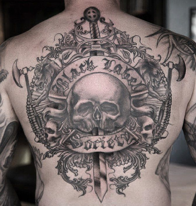 3b183674b black label society back piece by Roger Seliner | thunderbird tattoo ...