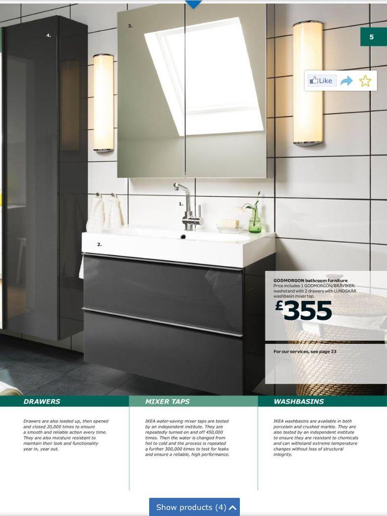 Nice Ikea bathroom set up | Bathroom ideas | Pinterest