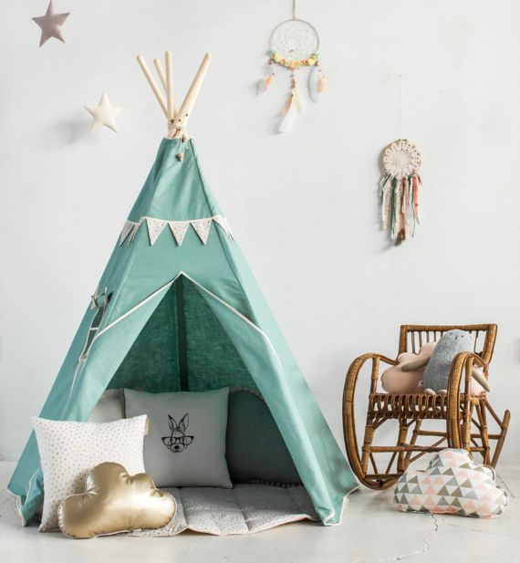 Linen Teepee Tent Teepee Tents Kids Geschenk Fur Den Kindertag