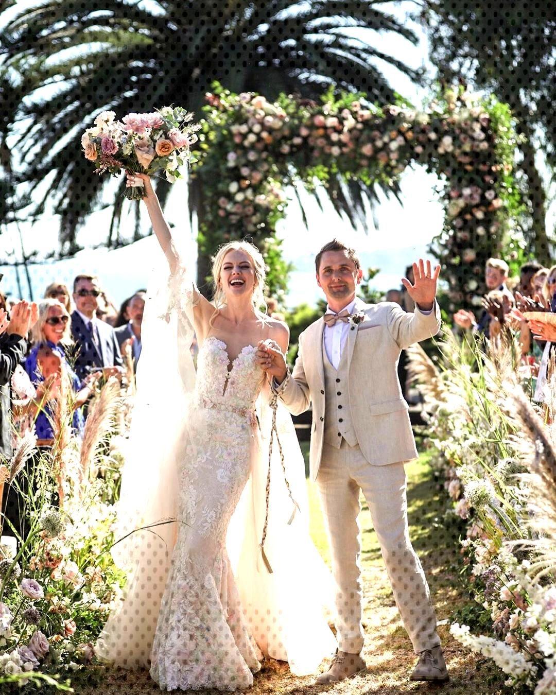 MUSE  Matt Bellamy and Elle EvansWedding 11 August 2019  Gulls Way MalibuMUSE  Matt B