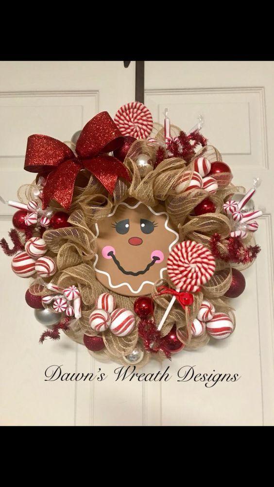 Dollar Store DIY Christmas Decor Ideas - Gingerbread Decorations -   14 holiday Wreaths design ideas