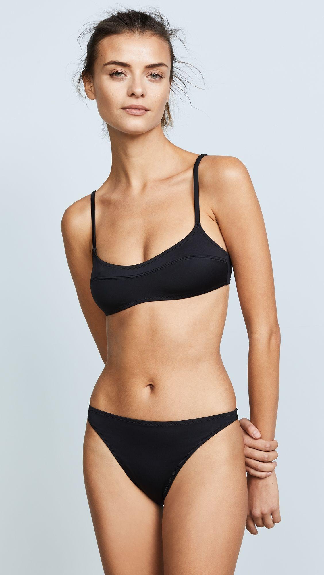 Meilleur Endroit De Réduction Solid & Striped Bikini The Elsa - Noir vue kEXxc
