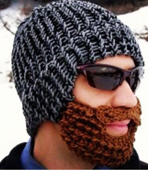 Have to find this for the hubs!!! | Knitted beard, Beard ...