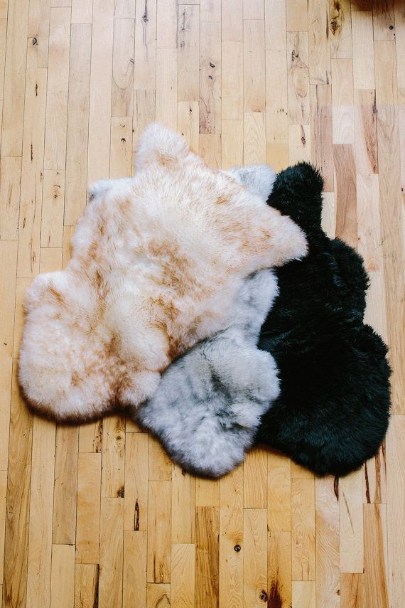 Sheepskin Rug Dog Bed Gray Tipped Grey White Aust