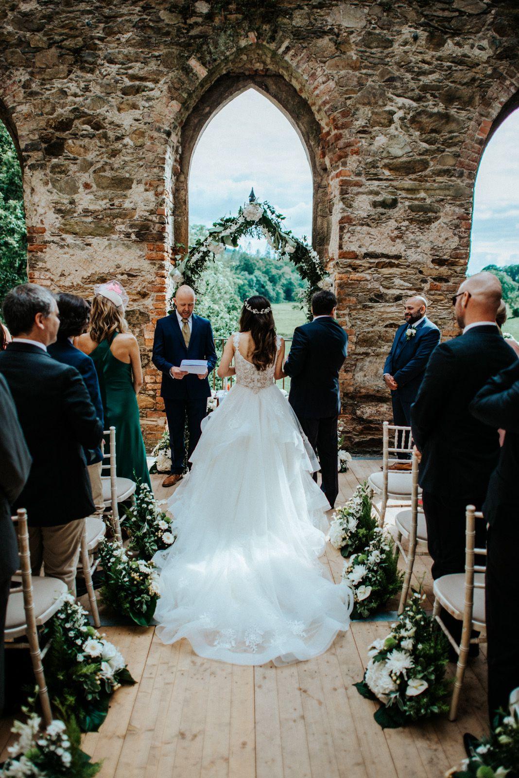 Beautiful castle ruin wedding in Ireland in 2020 Ireland
