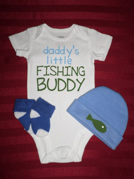 2972605a4333 Daddy's Little Fishing Buddy Bodysuit Gift Set For Baby ...
