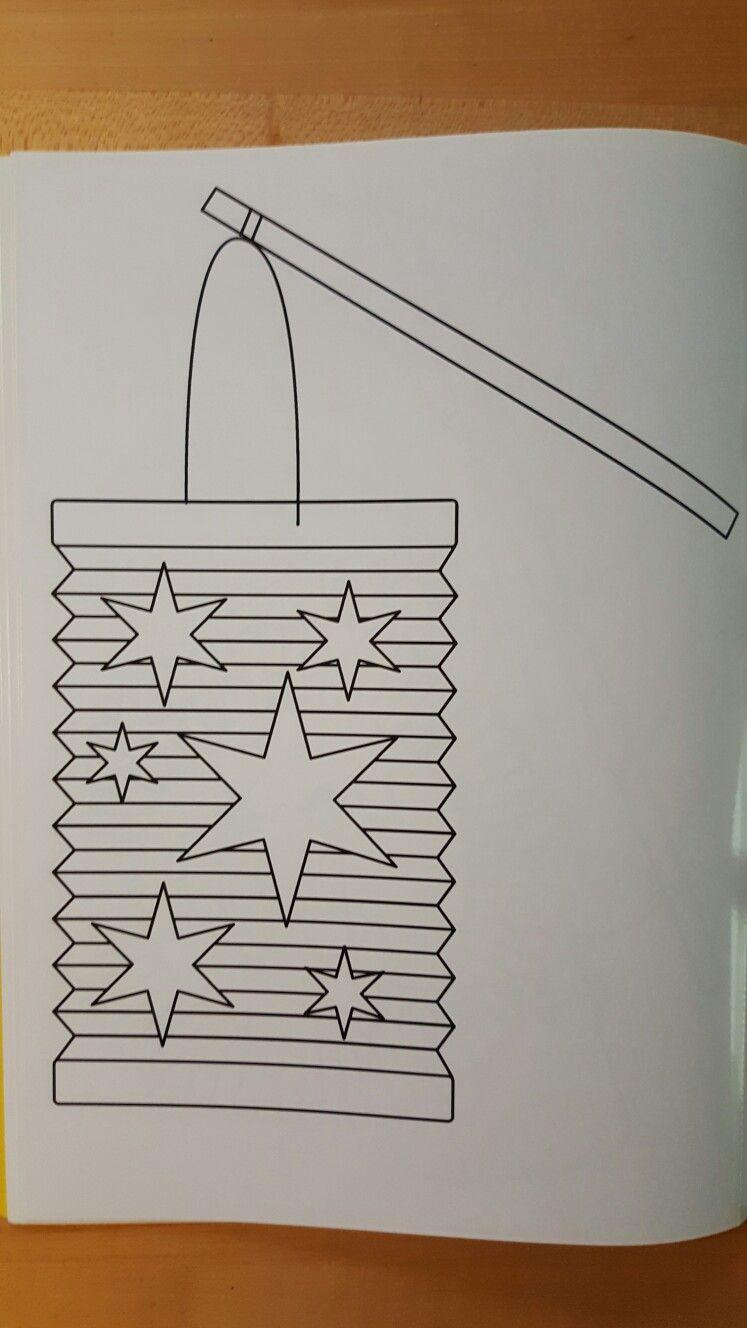 Sankt Martin Laterne ( malvorlage/ template)  Laternen basteln