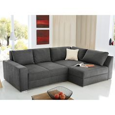 boxspring ecksofa esbjerg mit schlaffunktion mircofaser ottomane beidseitig montierbar. Black Bedroom Furniture Sets. Home Design Ideas
