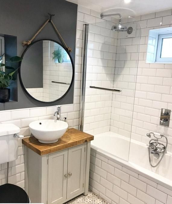 Photo of Rustic Chunky Farrow & Ball Painted Solid Wood Bathroom Washstand Vanity Sink Unit any colour*Not included – sinks/taps SMALL *4 SIZES