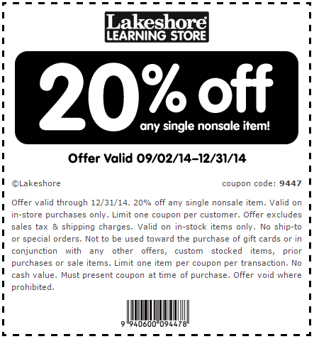 Lakeshore learning coupons 20 off coupon code free shipping lakeshore learning coupons 20 off coupon code free shipping fandeluxe Gallery