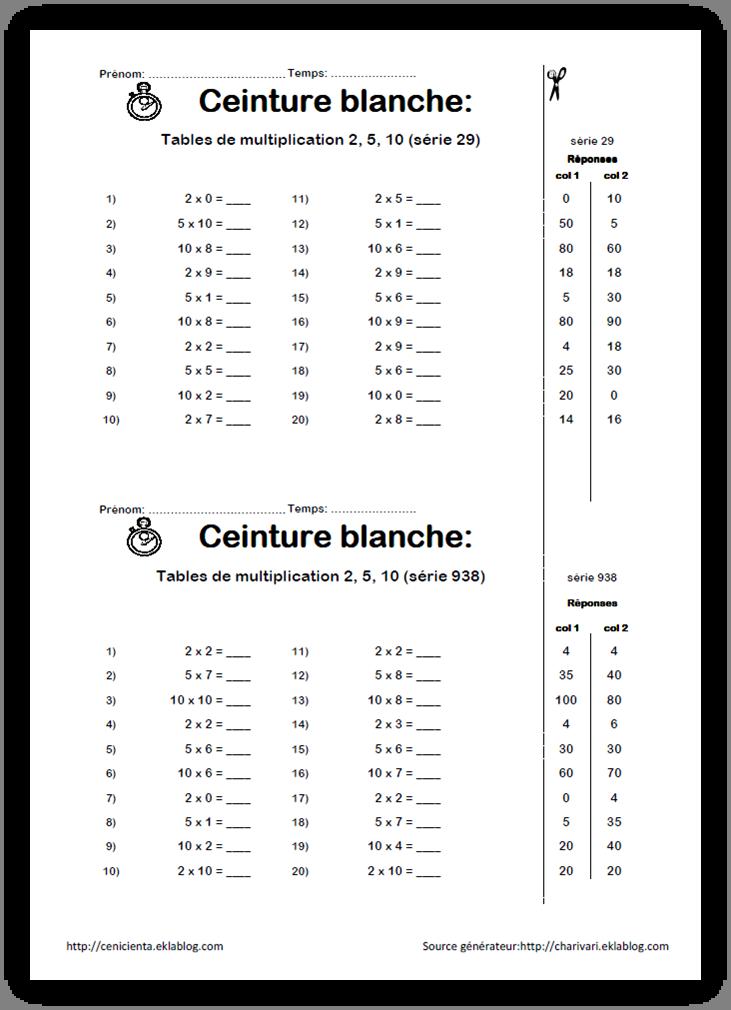 cm math matiques ceintures de comp tences tables de multiplication ecole pinterest. Black Bedroom Furniture Sets. Home Design Ideas
