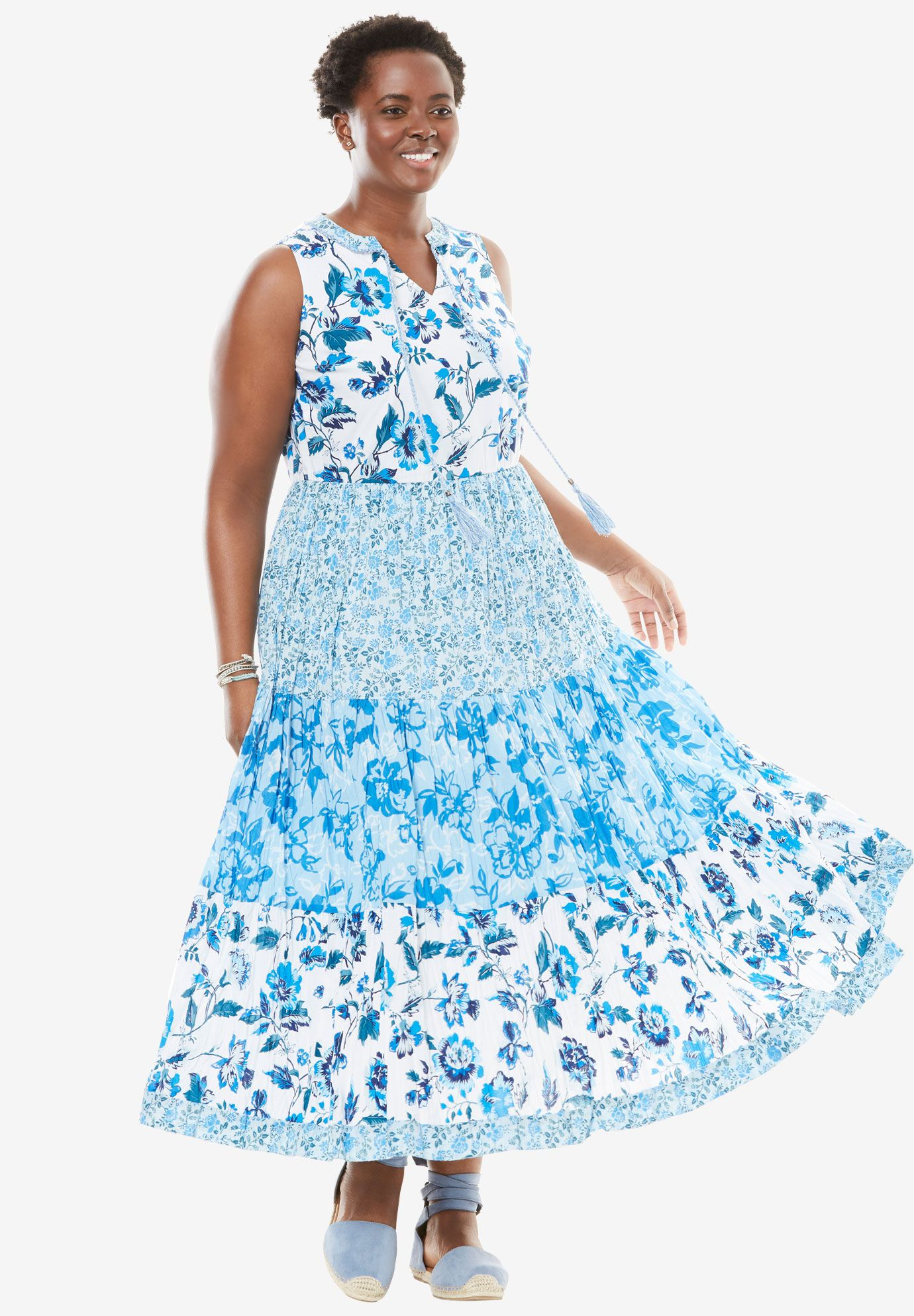 A-line maxi dress   Woman Within   My Style   Plus size maxi ...