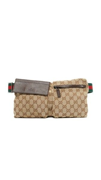 85c2378b6d5c WHAT GOES AROUND COMES AROUND Gucci Canvas Waist Pouch (Previously Owned).  #whatgoesaroundcomesaround #owned)
