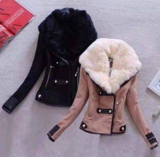 Szőrmés irha kabát fekete barna  1aad0fd7ce