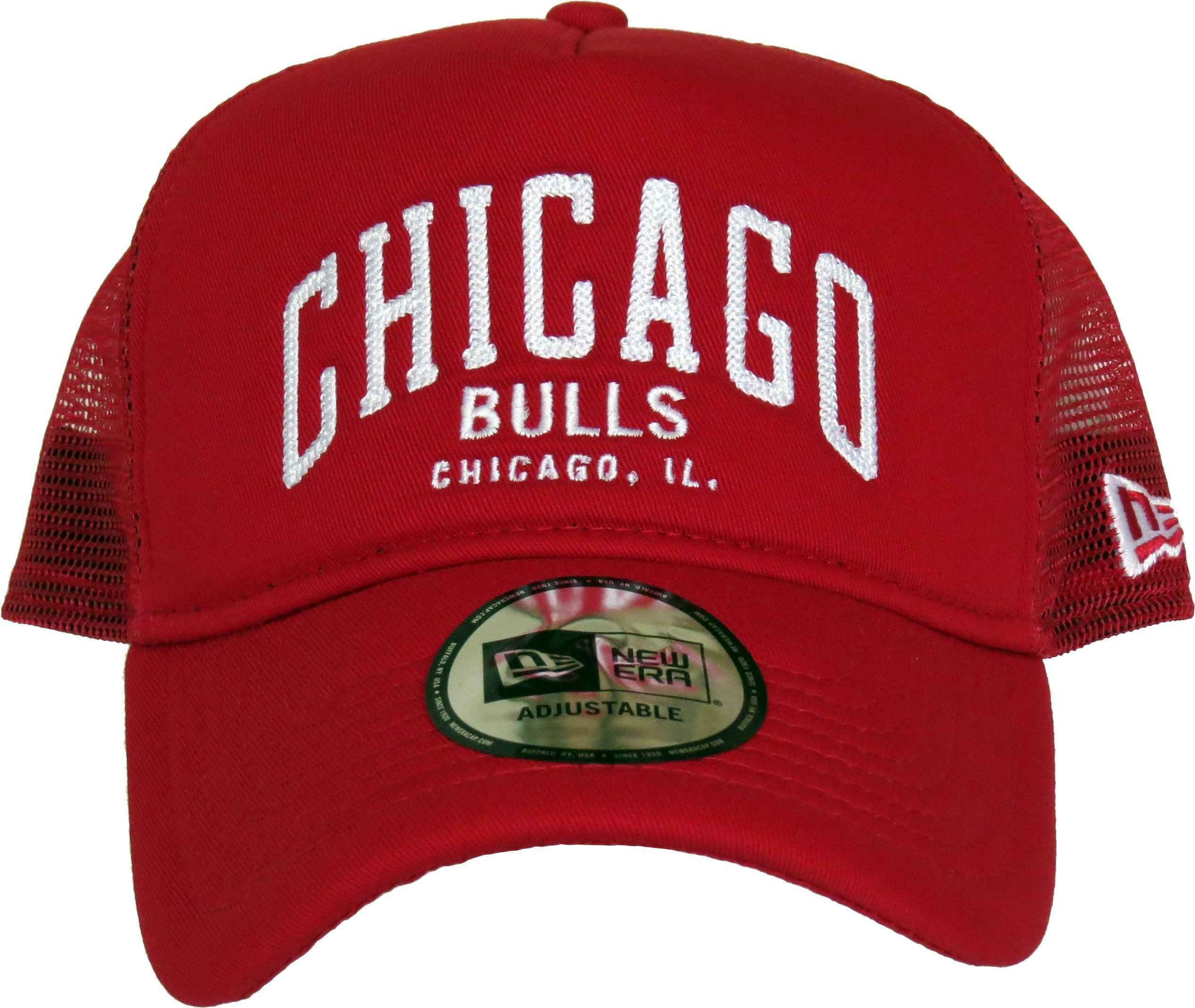 29eab4df9e3 Chicago Bulls New Era Chainstitch Trucker Cap. Red