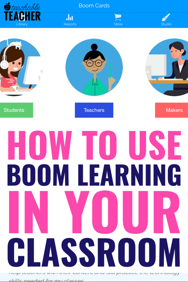 How To Use Boom Learning Cards As A Teacher A Teachable Teacher Learning Cards Digital Learning Activities Digital Learning