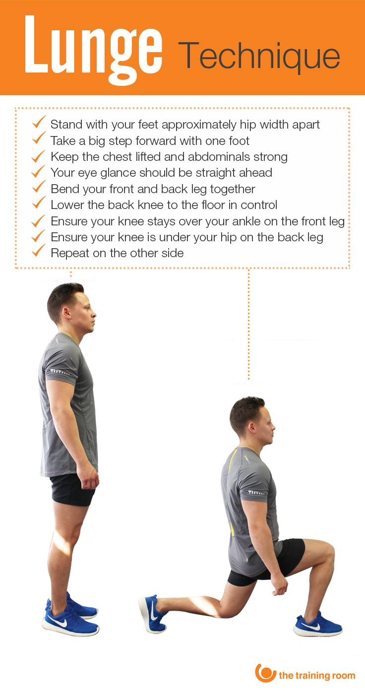 Check out our top tips for carrying out the perfect lunge ...
