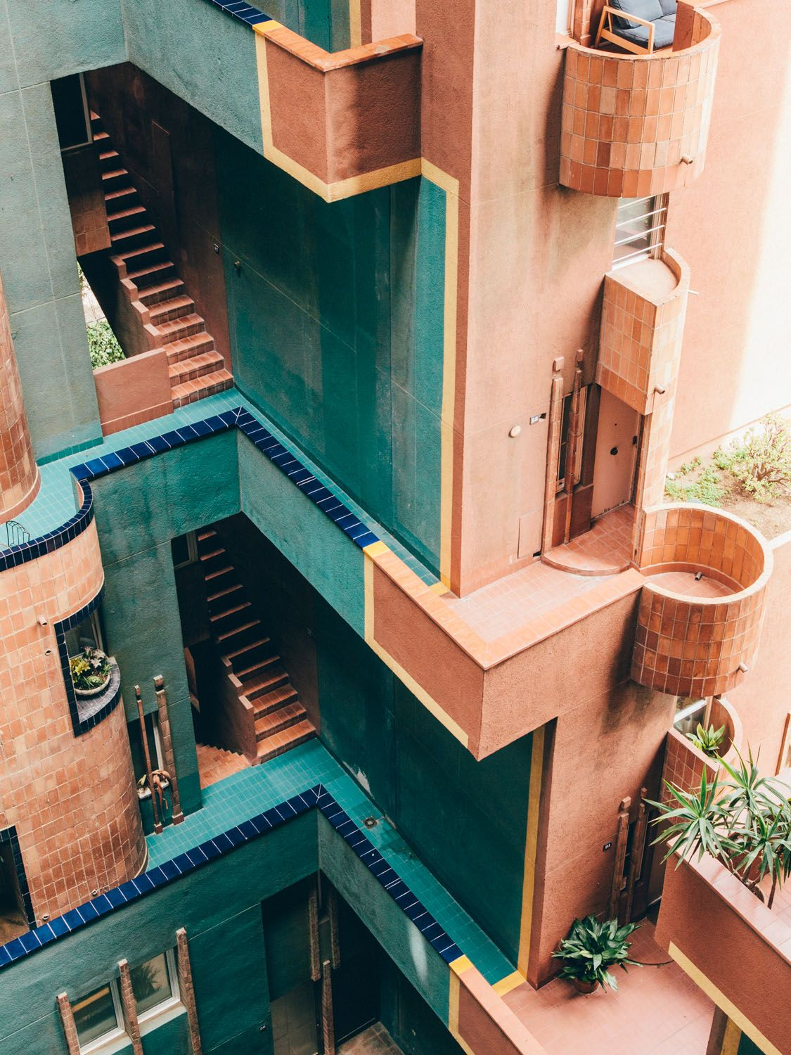Ricardo Bofill's utopian vision for social living found form in the cubist heights and halls of Walden 7.   Salva López