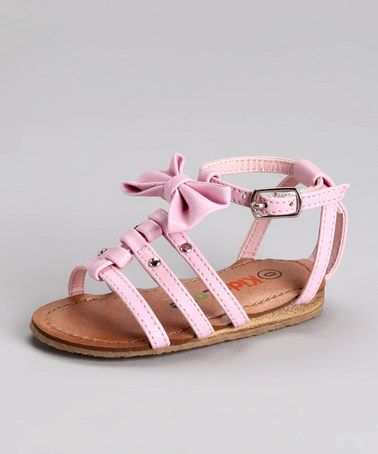 Take a look at this Pink Bow Sandal by Kids Zone on #zulily today!