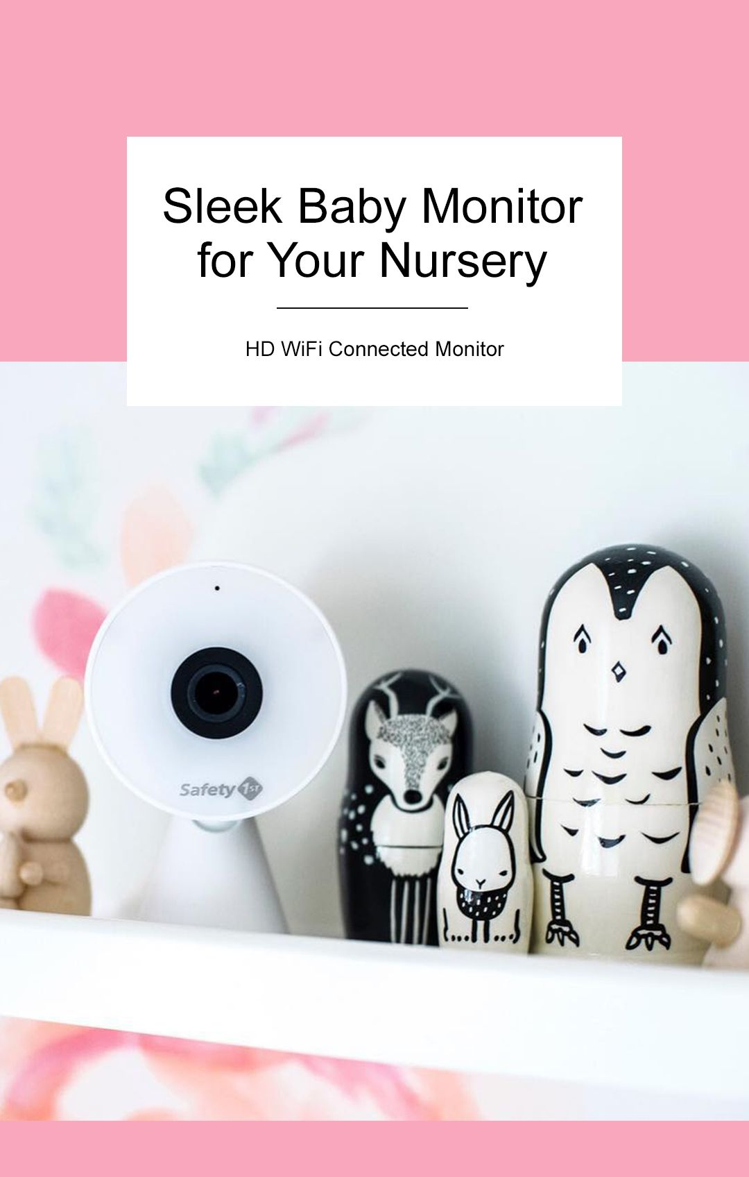 Hook our HD WiFi Connected Monitor to your smart phone or