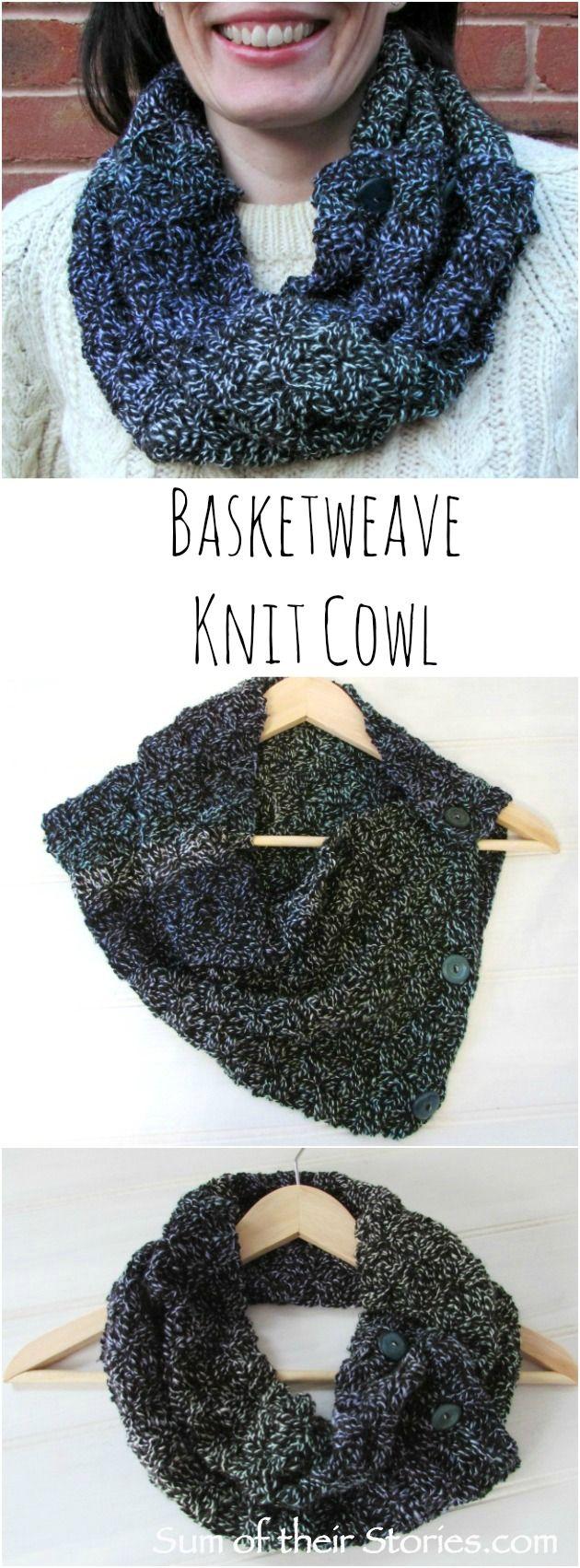 Basketweave Knit Cowl — Sum of their Stories Craft Blog ...
