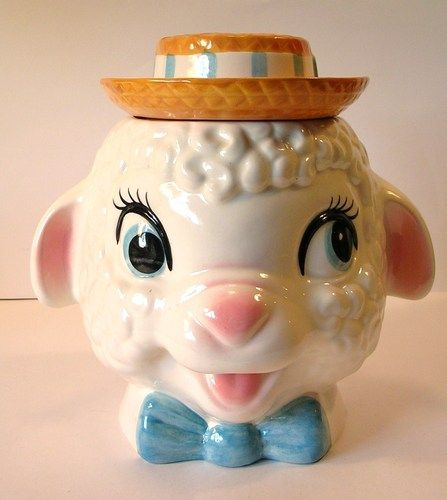 1950's Cookie Jars Pleasing Vintage 1950's Metlox Lambs Head Cookie Jar Asking $11099 Ebay 2018