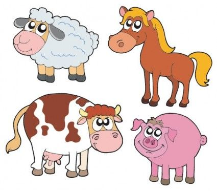 Cute Cartoon Animals Vector Vector Cartoon Free Vector For Free Download Animal Clipart Free Cute Cartoon Animals Animal Clipart