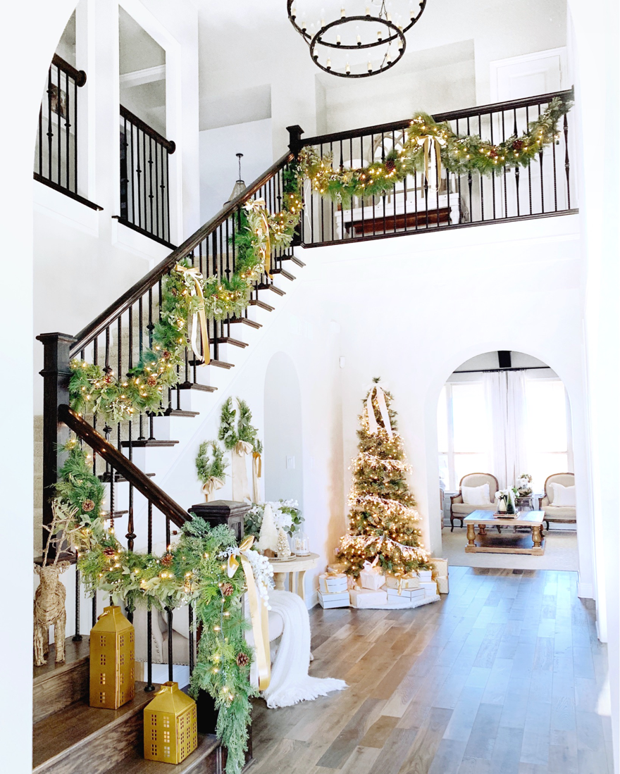 Christmas Home Tour 2018: Modern Farmhouse Glam with ...