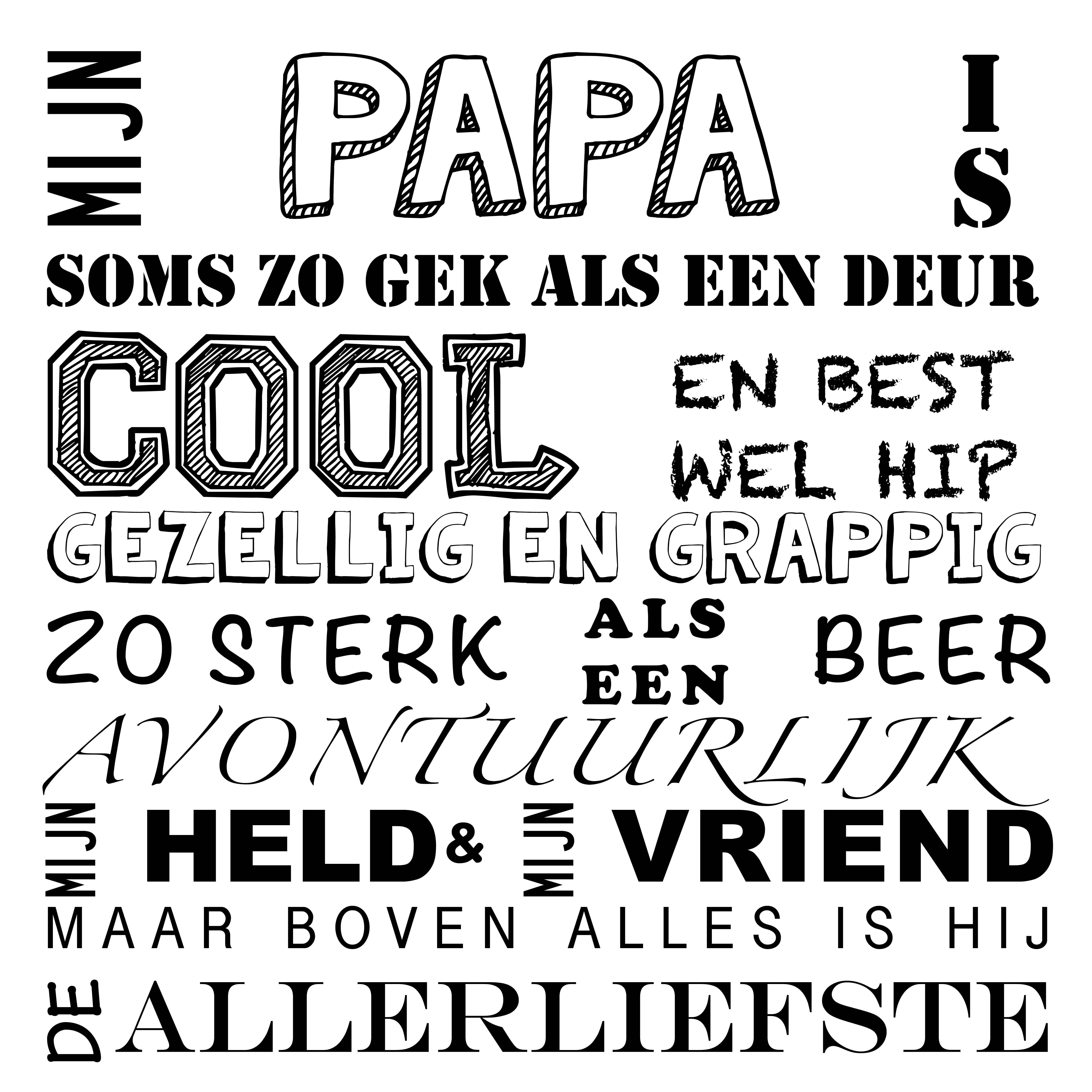 Spreukbord Mijn Papa Plexiglas Superhelden Grappig En