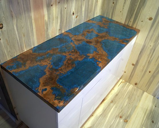 Exceptionnel Copper Granite Countertops | Copper Countertop U0026 Copper Table: Light 36  Gauge Azul Copper W/ Epoxy .