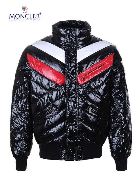 black moncler bubble jacket