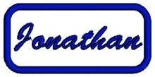 Jonathan Name free embroidery designs for machine to download