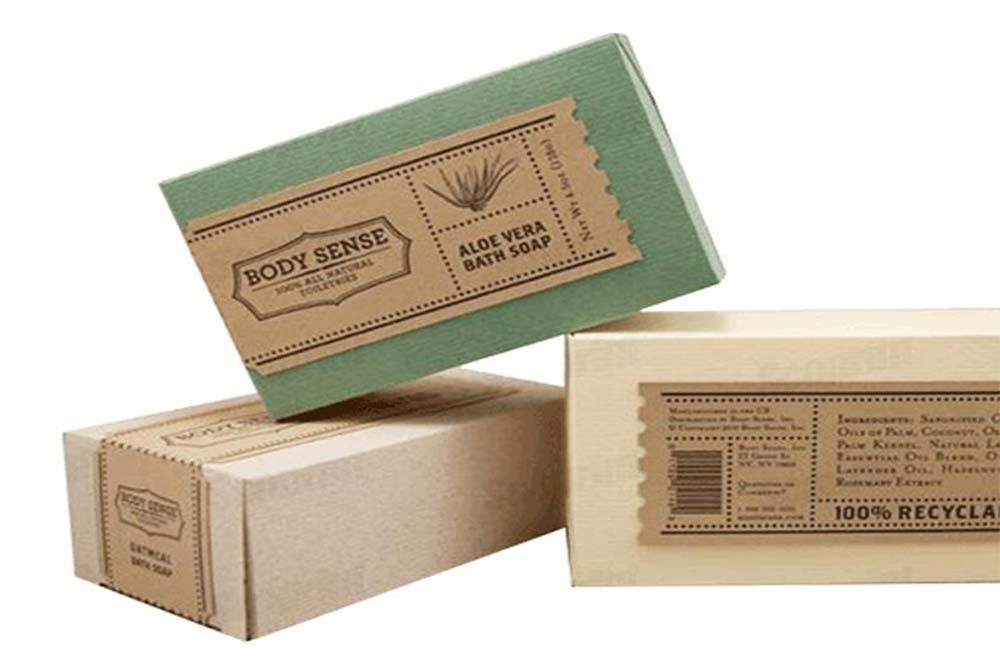 Biodegradable Brown Kraft Paper Soap Box Packaging With Custom Printing Soap Packaging Box Soap Packaging Soap Boxes