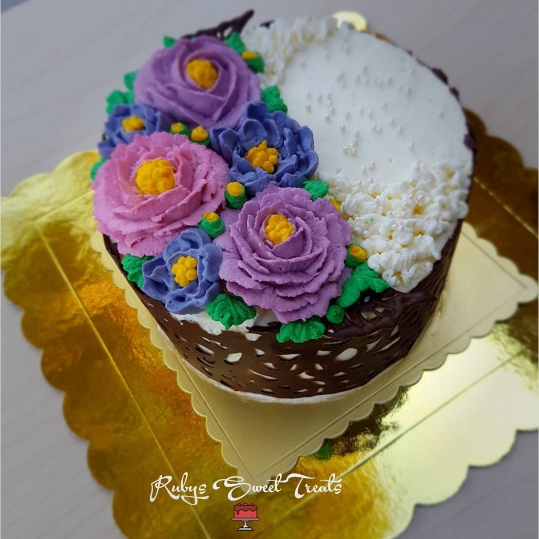 Chocolate lace cake f52grams freshcreamflowers