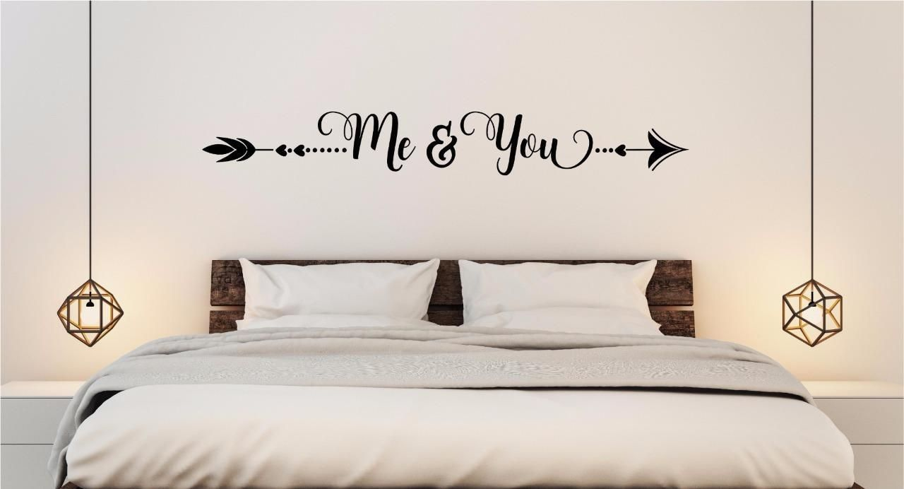 Me you vinyl decal wall sticker lettering words love
