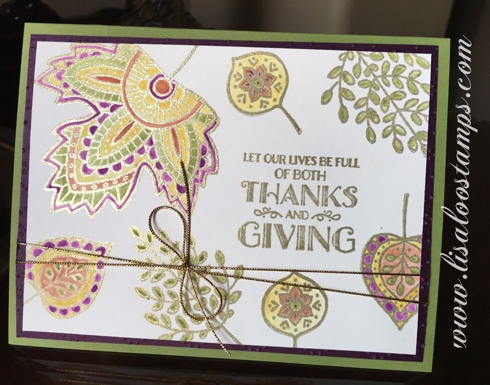 Lighthearted Leaves in color Stampin' Up!