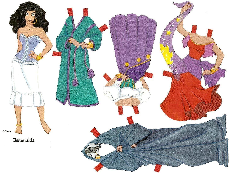 Princesas de Disney-Muñecas recortables | princesas recortables ...