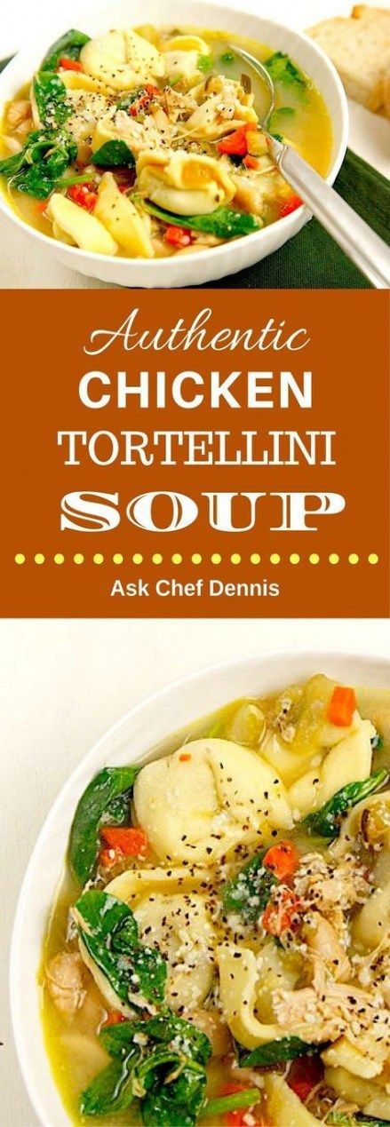 Soup Recipes Chicken Tortellini 67 Ideas For 2019 - Soup recipes / Zuppe, minestre e vellutate -