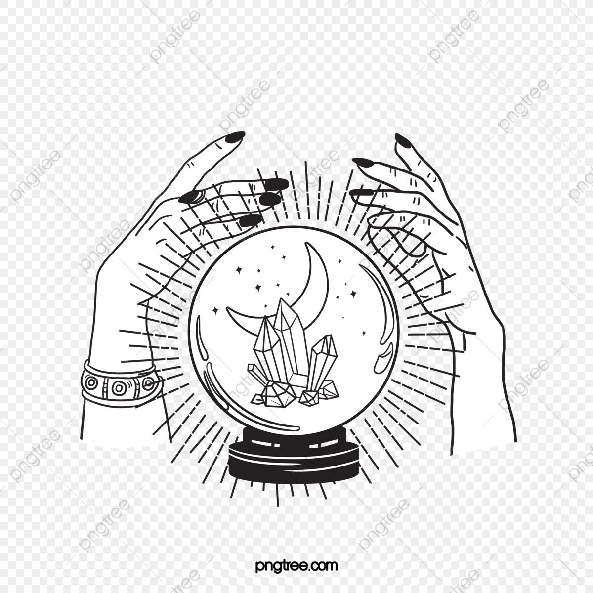 Hand Drawn Magic Crystal Ball Hand Clipart Hand Crystal Ball Png Transparent Clipart Image And Psd File For Free Download How To Draw Hands Crystal Ball Crystal Drawing